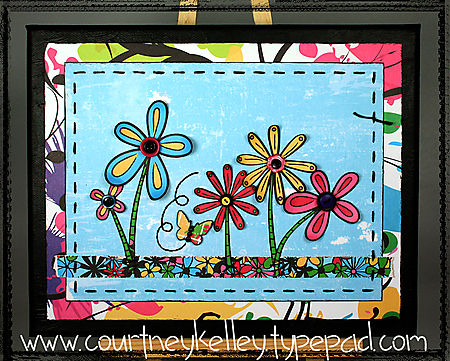 Glitz Flower Canvas blog screen