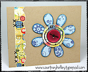 Chipboard flower with stitching blog screen