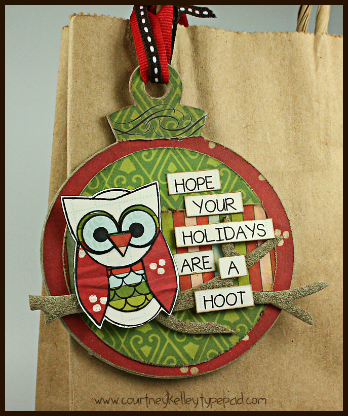 Holiday owl tag