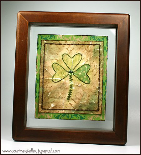 Ckelley shamrock in frame