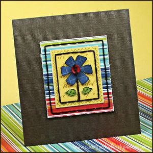 Ckelley flower postage stamp card 2