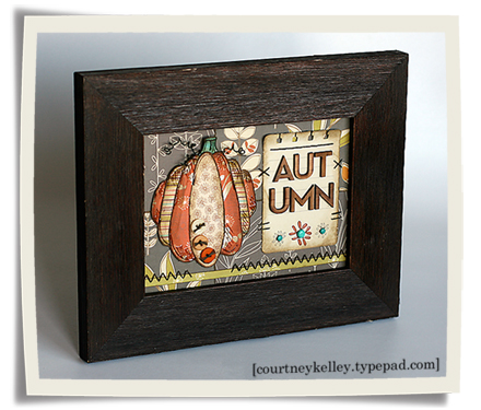 Autumn pumkin framed blog02