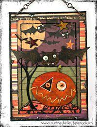 Halloween canvas blog