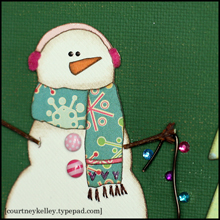 Snowman canvas upclose blog02