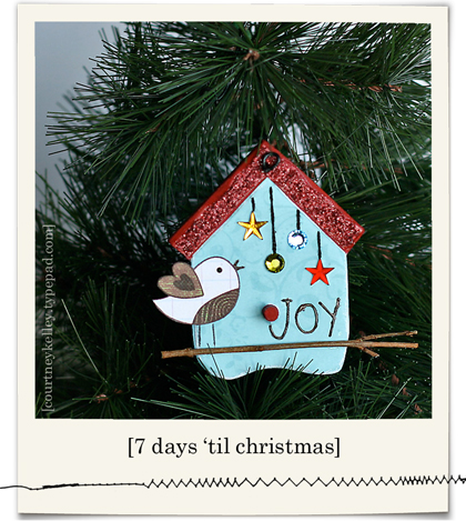 Birdhouse ornament blog02