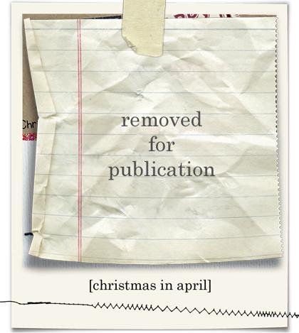 Christmas in april blog03