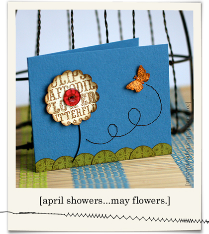 Spring flower with butterfly blog02