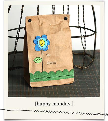 Watercolor Flower Gift Bag blog02