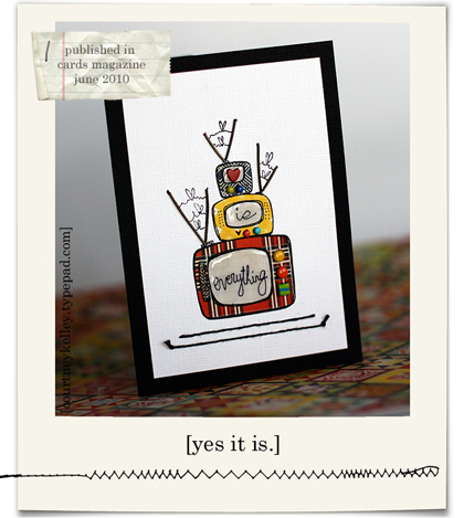 Love is everything card blog03