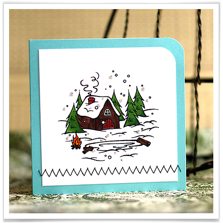 Winter Cabin Scene blog02