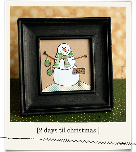 Framed joyful snowman blog02