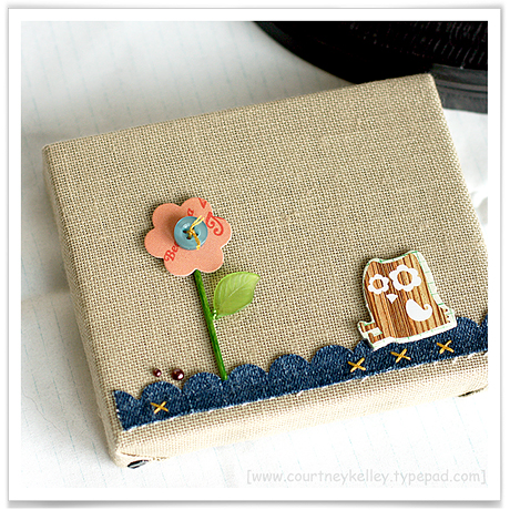 Owl with flower canvas blog02