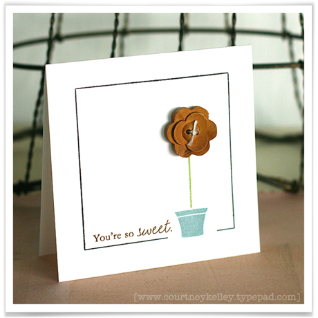 You're so sweet card blog02