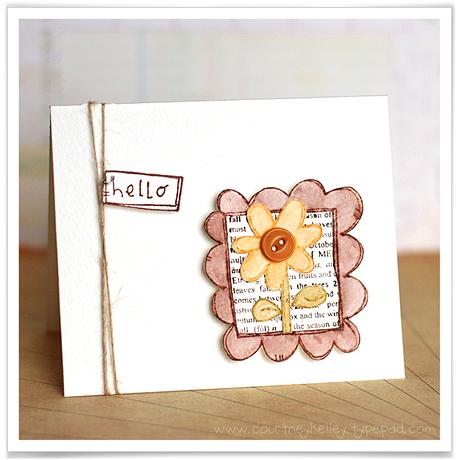 Hello Doodle Framed Flower blog02