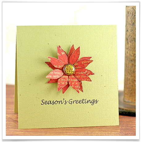 Season's Greetings Poinsetta blog02