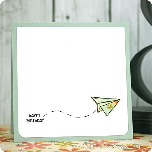 Courtney Kelley - Happy Birthday Paper Plane