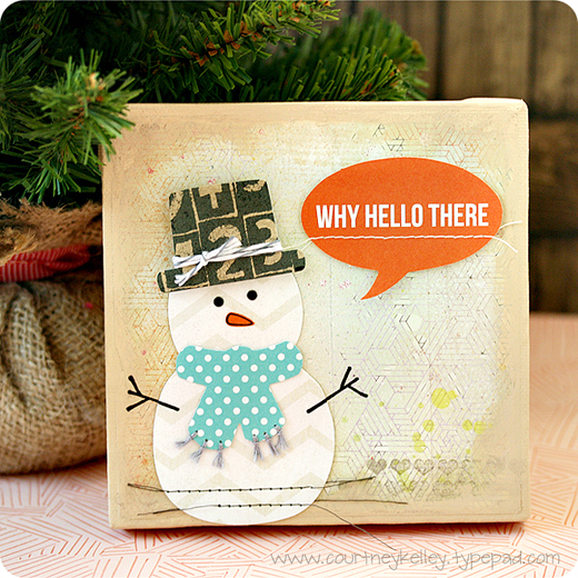 Why Hello There Snowman Canvas - Courtney Kelley