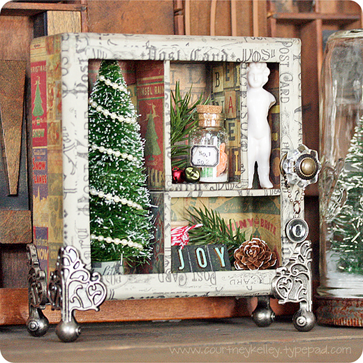 Courtney Kelley - Tim Holtz Christmas Shadow Box
