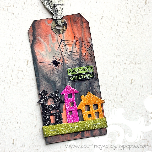 Courtney Kelley - Halloween Greetings Tag