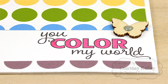 Courtney Kelley - You Color My World Detail