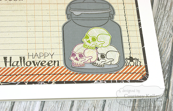 Courtney Kelley - Happy Halloween Skulls