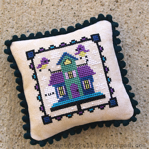 Courtney Kelley - Haunted Birdhouse XStitch