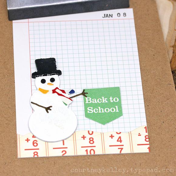 Courtney Kelley - Back to School Snowman