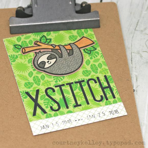 Courtney Kelley - Sloth XStitch