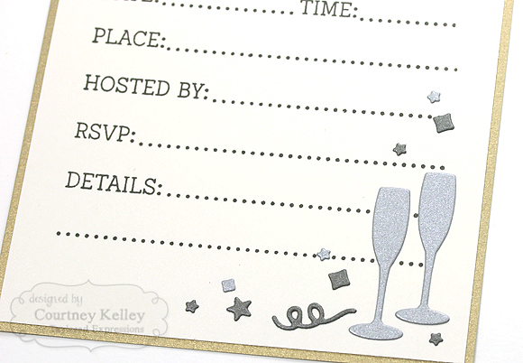 Courtney Kelley - New Year's Eve Invitation