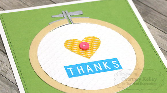 Courtney Kelley - Thanks Embroidery Hoop